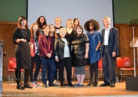 Sandi Toksvig, Catherine Mayer and Sophie Walker with the panel at the Women's Equality Party Policy Launch 2015