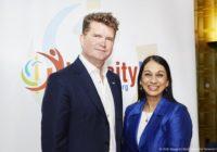 US Ambassador to the UK, Matthew Barzun with Lopa Patel MBE, Founder & CEO of Diversity UK
