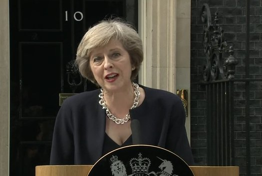 Theresa May 1st Statement as Prime Minister