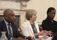 Prime Minister Theresa May hosts a roundtable at the launch of the Race Disparity Audit