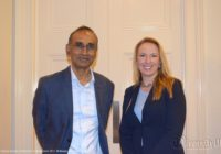 Sir Venki Ramakrishnan, President of The Royal Society with Professor Sarah-Jane Leslie of Princeton University