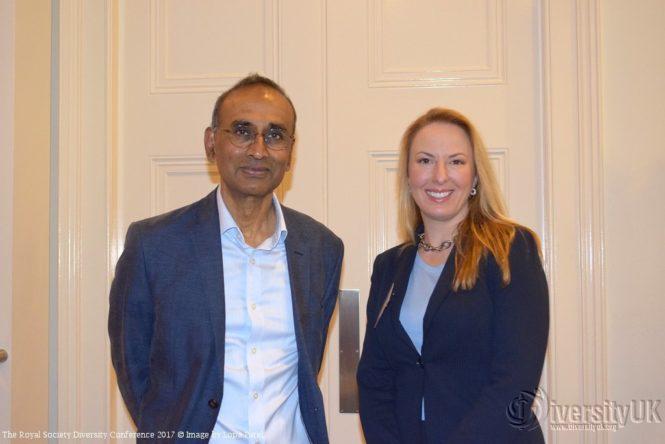 Sir Venki Ramakrishnan, President of The Royal Society with Professor Sarah-Jane Leslie of Princeton University
